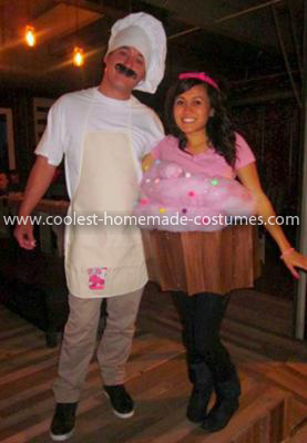Homemade Cupcake and Baker Costume