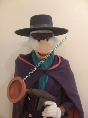 Homemade Darkwing Duck Halloween Costume Idea