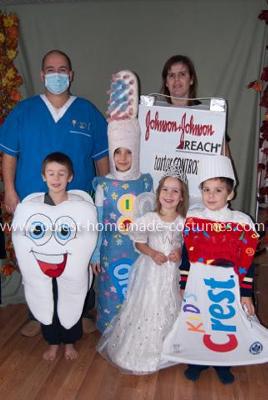 Homemade Dental Hygiene Family Costume