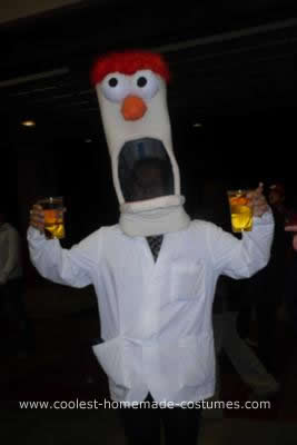 Homemade DIY Beaker Halloween Costume