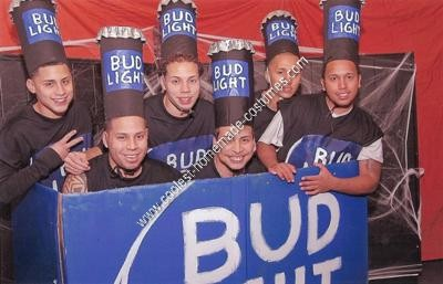 DIY BudLight 6 Pack Group Halloween Costume Idea