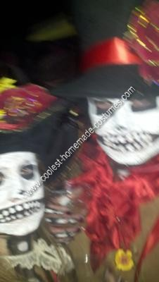 DIY Day of the Dead Couple Halloween Costume