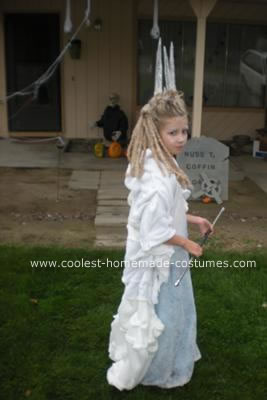 DIY Ice Witch of Narnia Child's Halloween Costume Idea