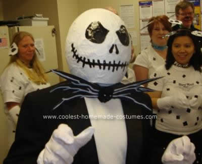 Homemade DIY Jack Skellington Halloween Costume