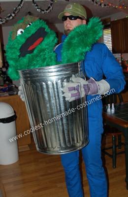 DIY Oscar the Grouch Halloween Costume