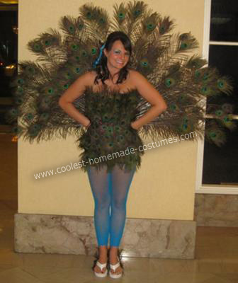 DIY Peacock Halloween Costume