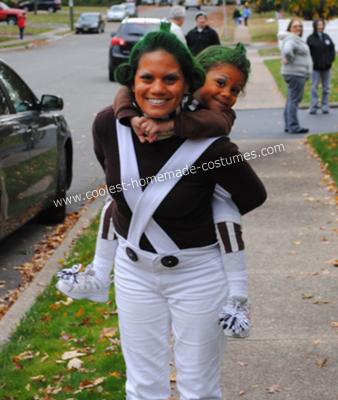 DIY Willy Wonka and his Oompa Loompas Halloween Costumes