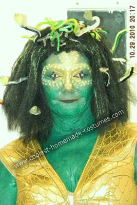 Homemade Medusa Wig http://www.coolest-homemade-costumes.com/coolest-do-it-yourself-medusa-halloween-costume-6.html