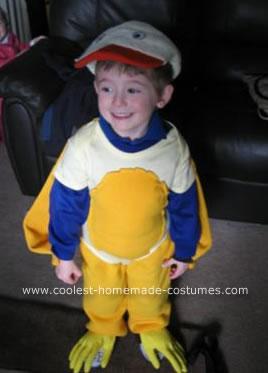 Homemade  Easter Chicken Costume