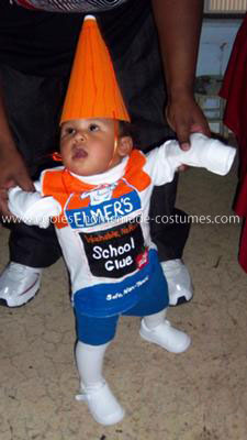 Homemade Elmer's Glue Child Costume