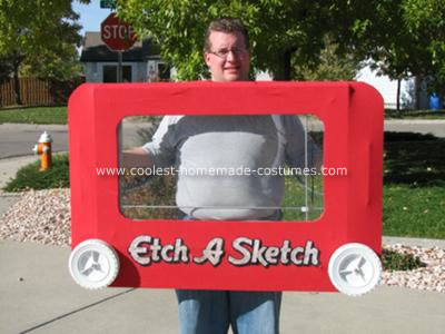 Fully Functional Etch-a-Sketch Costume