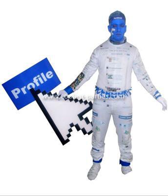 Homemade Facebook Costume