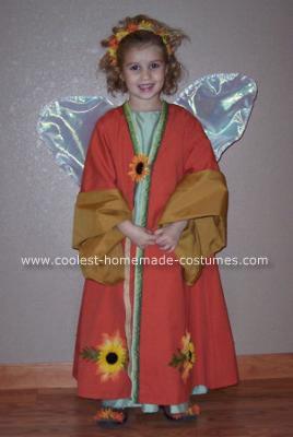 Homemade Fall Fairy Costume