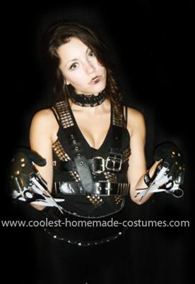 Homemade Female Edward Scissorhands Costume