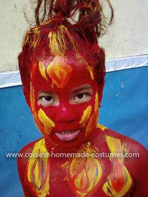 Homemade Fire Costume