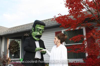 Coolest Frankenstein and His Bride Couple Costume 15