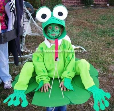 Homemade Frog on a Lilly Pad Costume