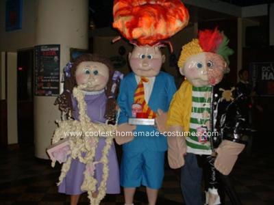 Homemade Garbage Pail Kids Costumes