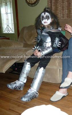 Homemade Gene Simmons Child Costume