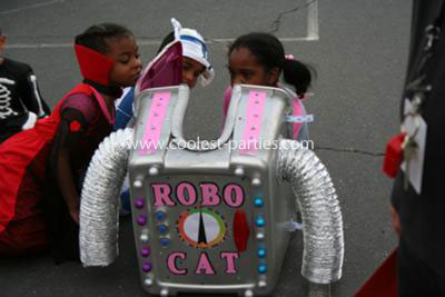 Homemade Girl Robot Costume