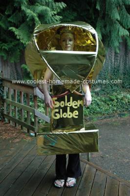 Homemade Golden Globe Award Costume