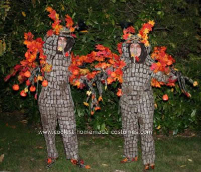Homemade Halloween Tree Couple Costume