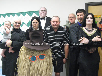 Handmade Addams Family Group Costumes