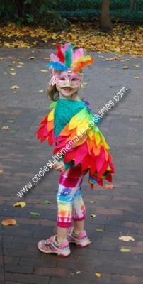 Handmade Rainbow Bird Costume