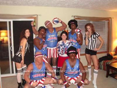 Homemade Harlem Globetrotters Halloween Group Costume