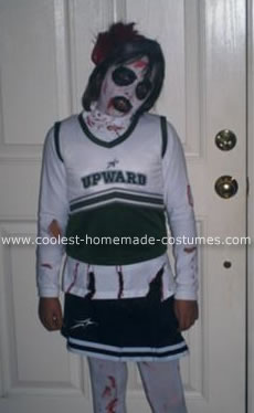Homemade Haunted Cheerleader Costume