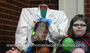 Homemade Head In A Jar Costume