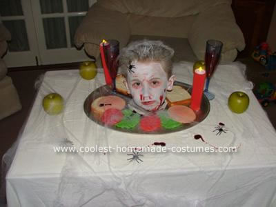 Homemade Head on Platter Costume