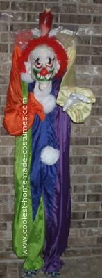 Homemade Headles Clown Costume