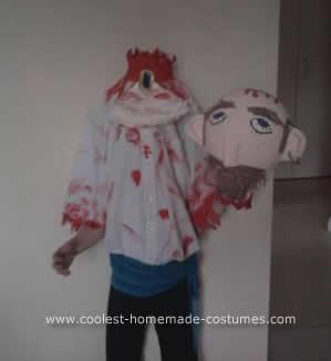 Homemade Headless Man Costume