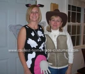Homemade Holy Cow costume and the cowgirl