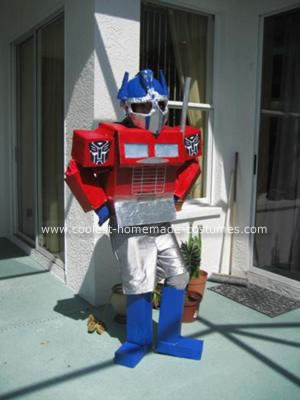 Homeamde Optimus Prime Halloween Costume