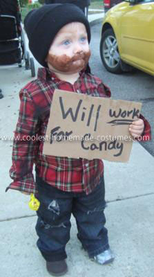 Homemade Homeless Child Costume