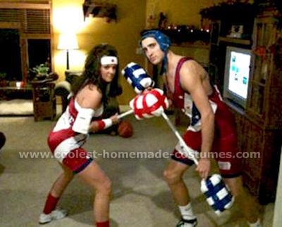 Homemade American Gladiators Couple Costume