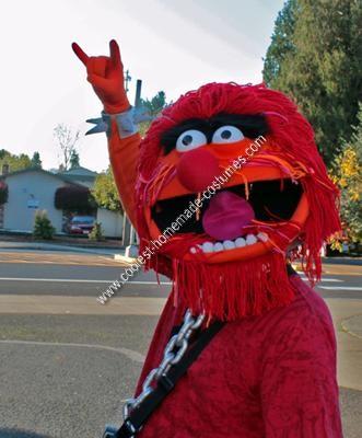 Homemade Animal Muppet Halloween Costume Idea