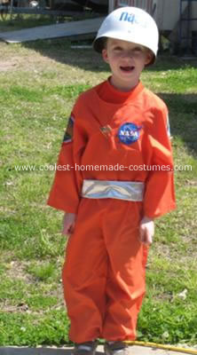Homemade Astronaut Child Costume Idea