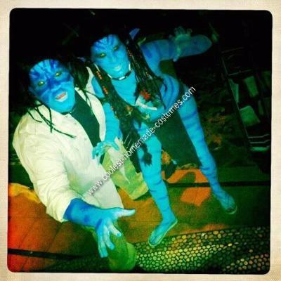 Homemade Avatar Couple Halloween Costume Idea