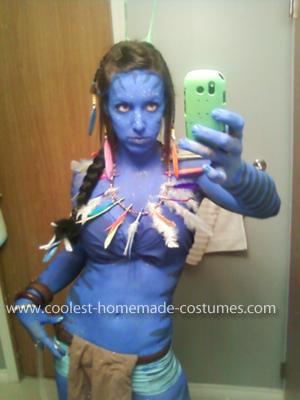 Homemade Avatar Woman's Costume