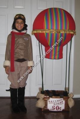 Homemade Aviator in a Hot Air Balloon Halloween Costume Idea