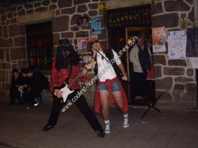 Homemade AXL Rose and Slash Couple Costume