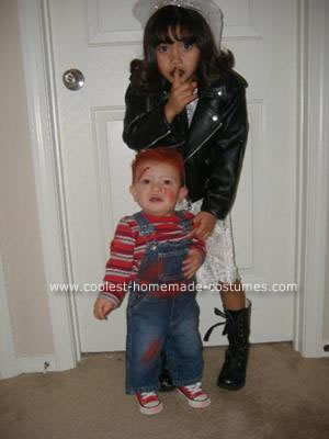 Bride of Chucky Costume http://www.coolest-homemade-costumes.com/coolest-homemade-baby-chucky-and-bride-of-chucky-costume-7.html