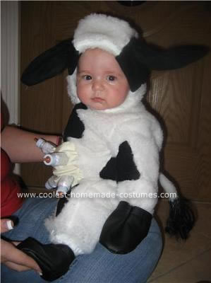 Homemade Baby Cow Costume