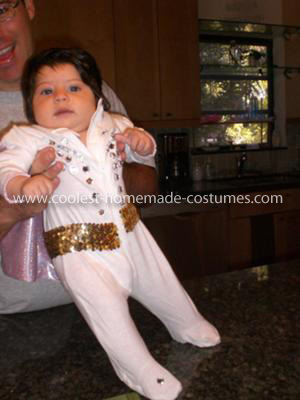 Homemade Baby Elvis Costume