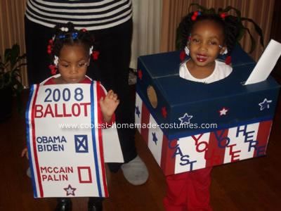 Homemade Ballot and Ballot Box Costume