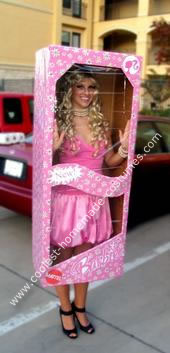 Homemade Barbie in a  Box Halloween Costume