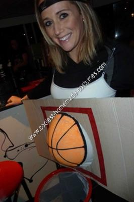 Homemade Basketball Pregnancy Costume